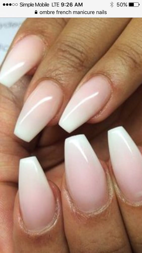 Ombre french manicure - Yelp