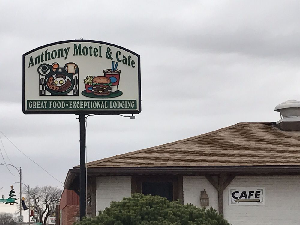 Anthony Motel & Cafe: 423 W Main St, Anthony, KS