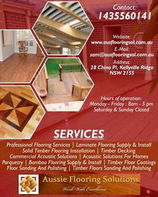 Bamboo Flooring Solutions aussie flooring solutions - flooring & tiling - sydney new south