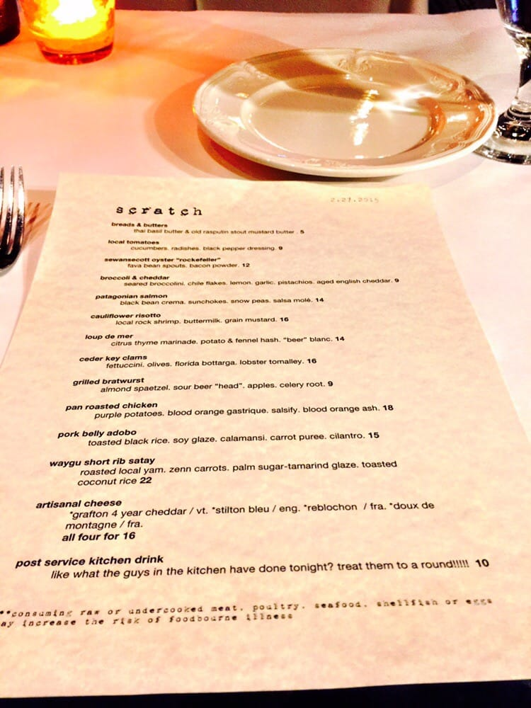 Menu. It changes daily the waiter said, so reference only for an ...