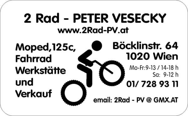 2rad peter vesecky fahrrad b cklinstr 64 leopoldstadt wien telefonnummer yelp. Black Bedroom Furniture Sets. Home Design Ideas