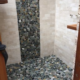 Photo Of Tile Works Greensboro Nc United States Outside Shower Tiling