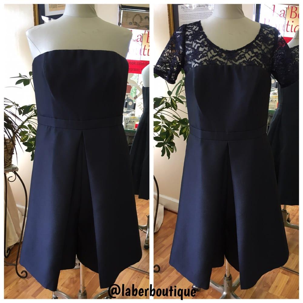 Make a long dress into a short dress
