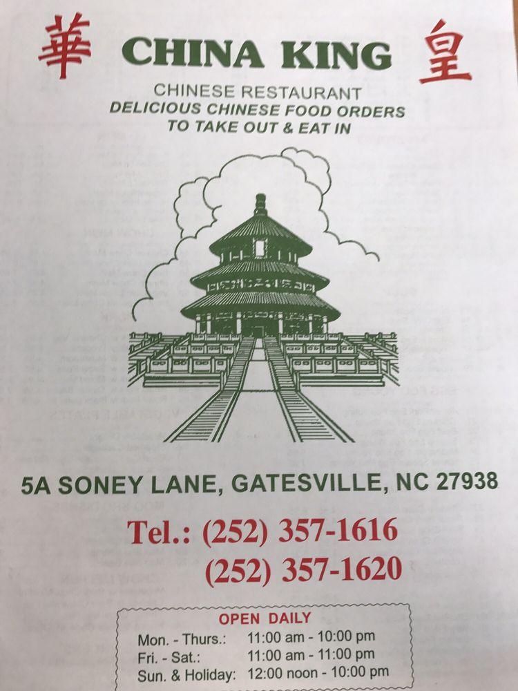 China King: 5A Soney Ln, Gatesville, NC