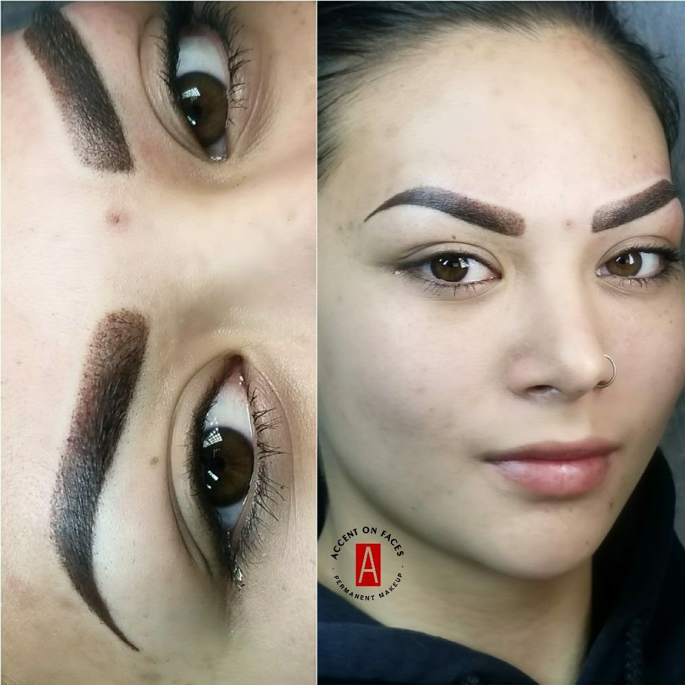 Beautiful, stunning ombre permanent makeup eyebrows  Look at