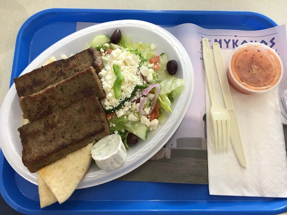Food from Mykonos Grill