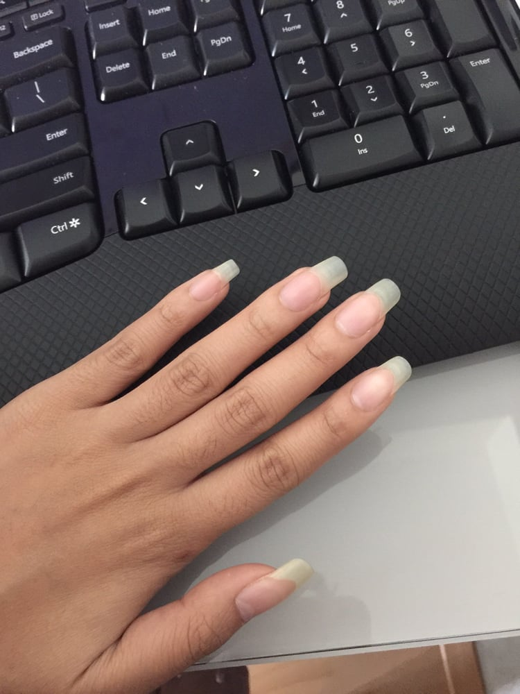 My natural nails after a year of SNS! Best nail treatment/ procedure ...