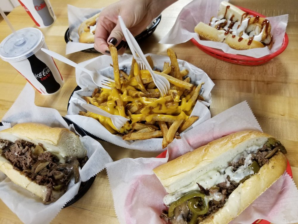 Food from Cosmo's Cheesesteaks