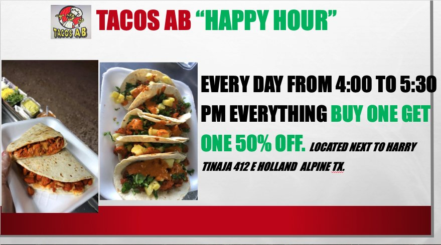 Tacos AB: 412 E Holland Ave, Alpine, TX
