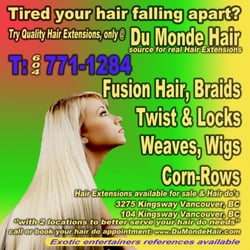Du monde hair cosmetics beauty supply vancouver bc photo of du monde hair vancouver bc canada fusion hair extensions braiding pmusecretfo Gallery