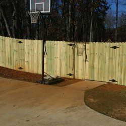 photo of natural enclosures fence company mcdonough ga united states fence with