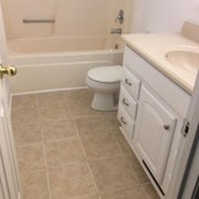 New Tile Laid Photo Of Troutmanu0027s Bathroom Restoration   McConnellu0027s, SC,  United States.
