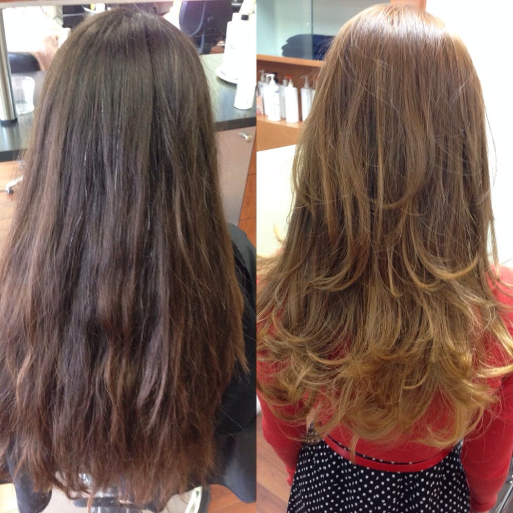 Before and after new lighter blonde base ombr highlights 96 photos for anthony g salon pmusecretfo Choice Image