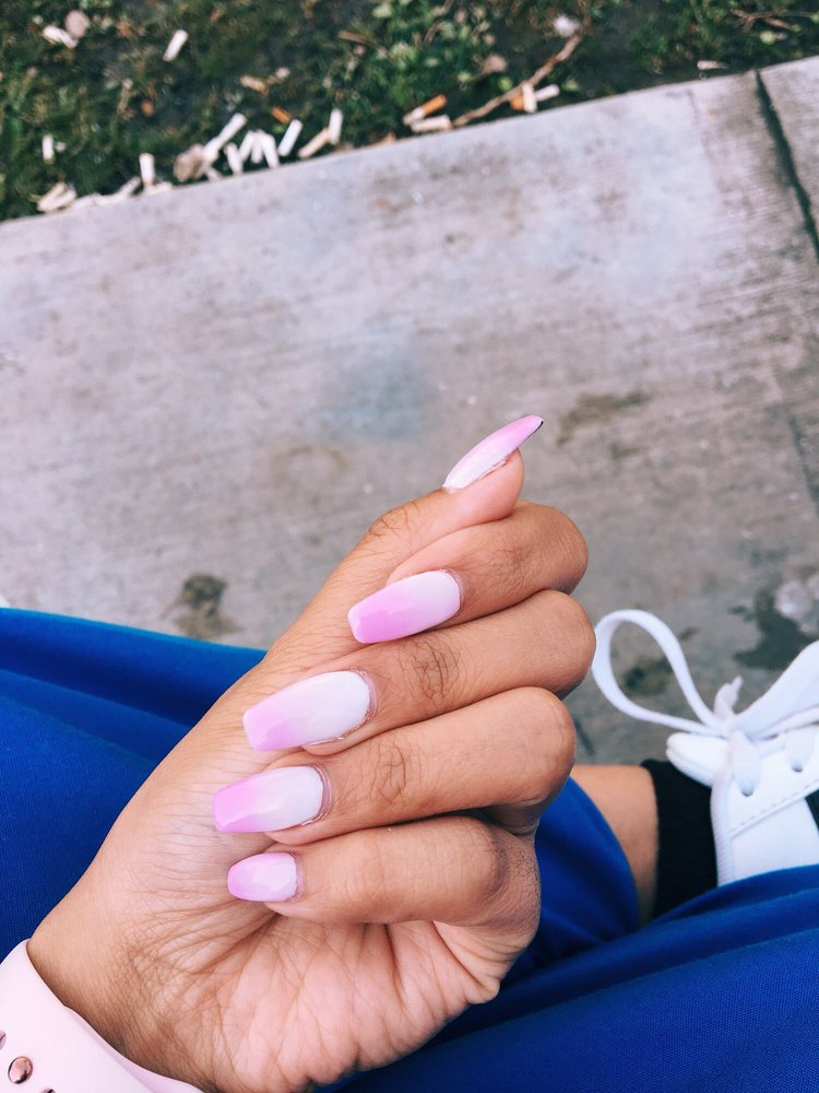 Photo Of Exotic Nails Pasadena Ca United States Pink To White Mood