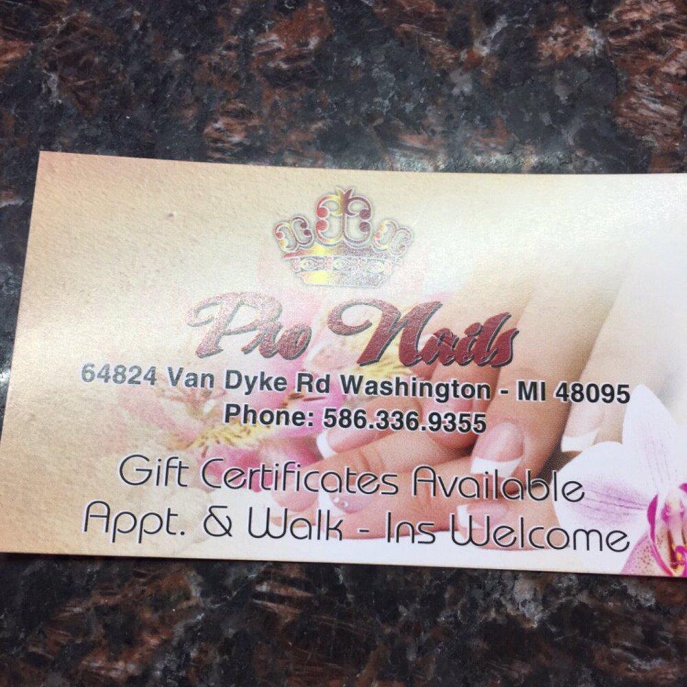 Pro Nails: 64824 Vandyke, Washington, MI