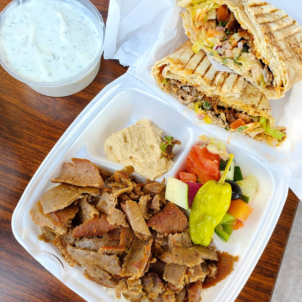 Food from Mr Greek Donair & Kebab