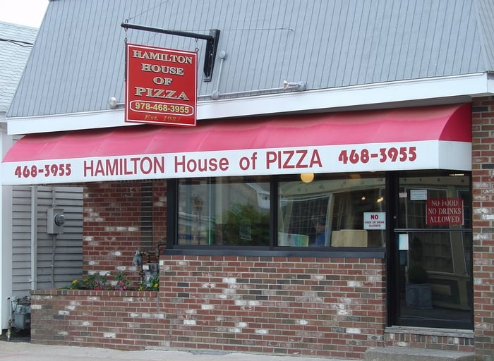 Food from Hamilton House of Pizza