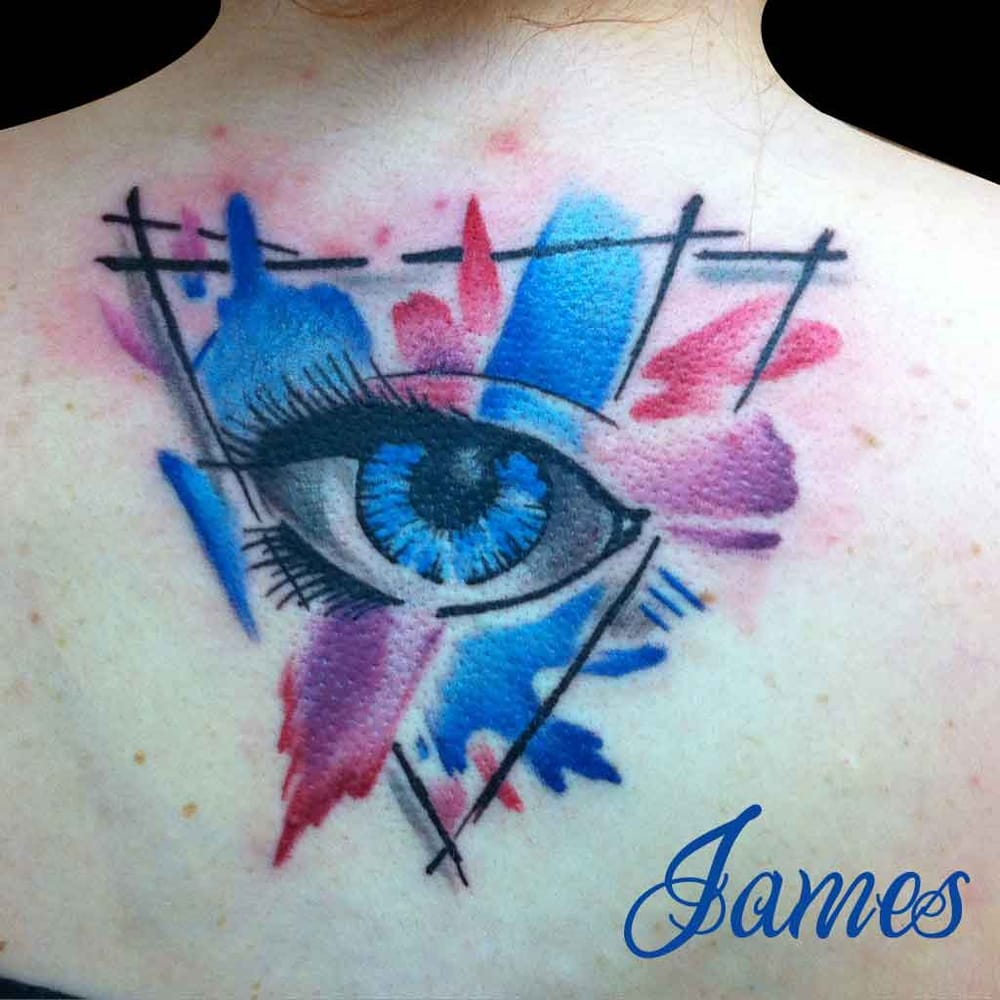 watercolour inspired eye done by james knight yelp