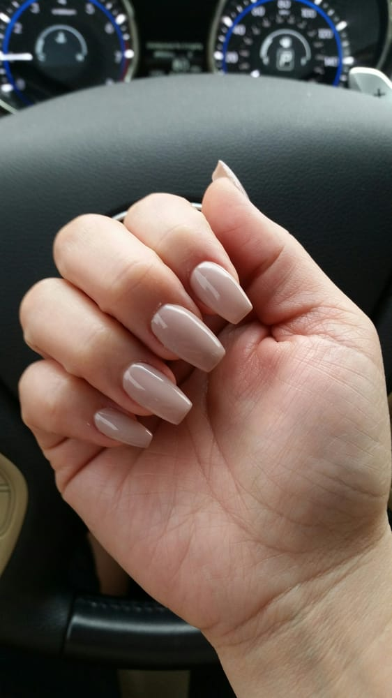 Coffin nails gel set.. Forgot the color though - Yelp