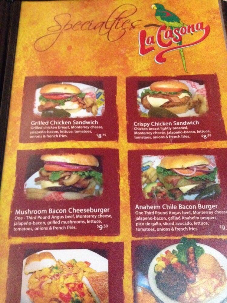 la casona angleton menu