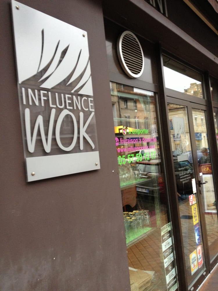 influence wok ferm wok 23 cours portal chartrons grand parc bordeaux restaurant. Black Bedroom Furniture Sets. Home Design Ideas