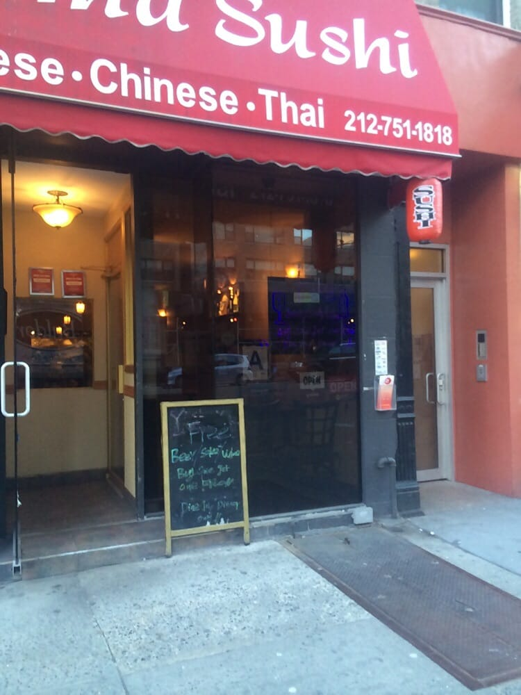 Awesome they do promotion beer sake wine buy one get one for Aura thai fusion cuisine new york ny