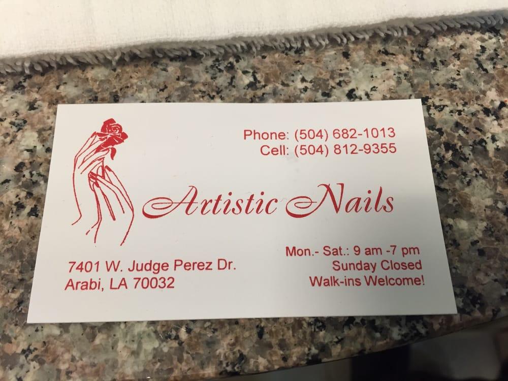 Artistic Nails: 7401 W Judge Perez Dr, Arabi, LA