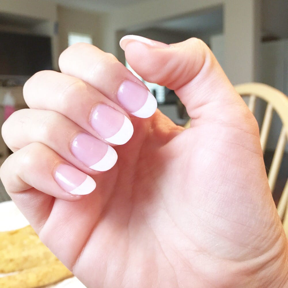 Andy\'s work! Rounded white tip acrylic! Amazing job - Yelp