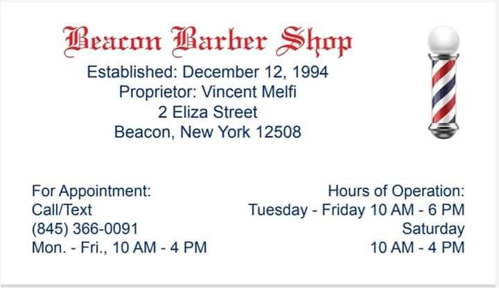 Beacon Barbershop: 2 Eliza St, Beacon, NY