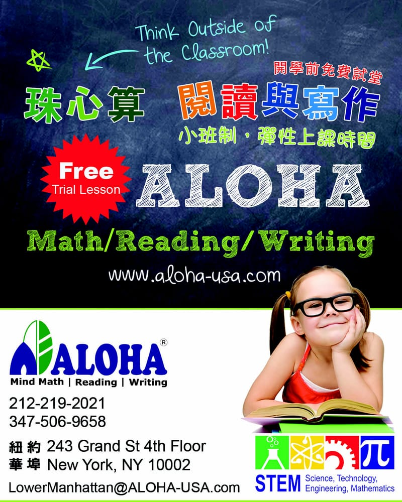 ALOHA Mind Math: 243 Grand St, New York, NY