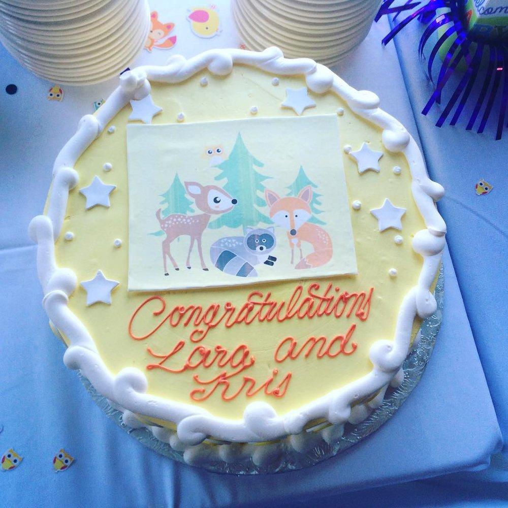 Woodland Themed Baby Shower Cake Yelp
