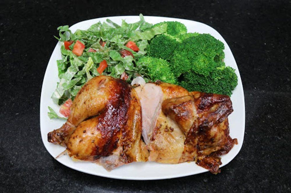 Food from Carali's Rotisserie Chicken