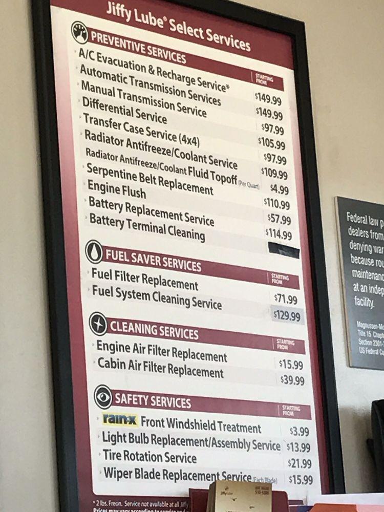 Price List Yelp