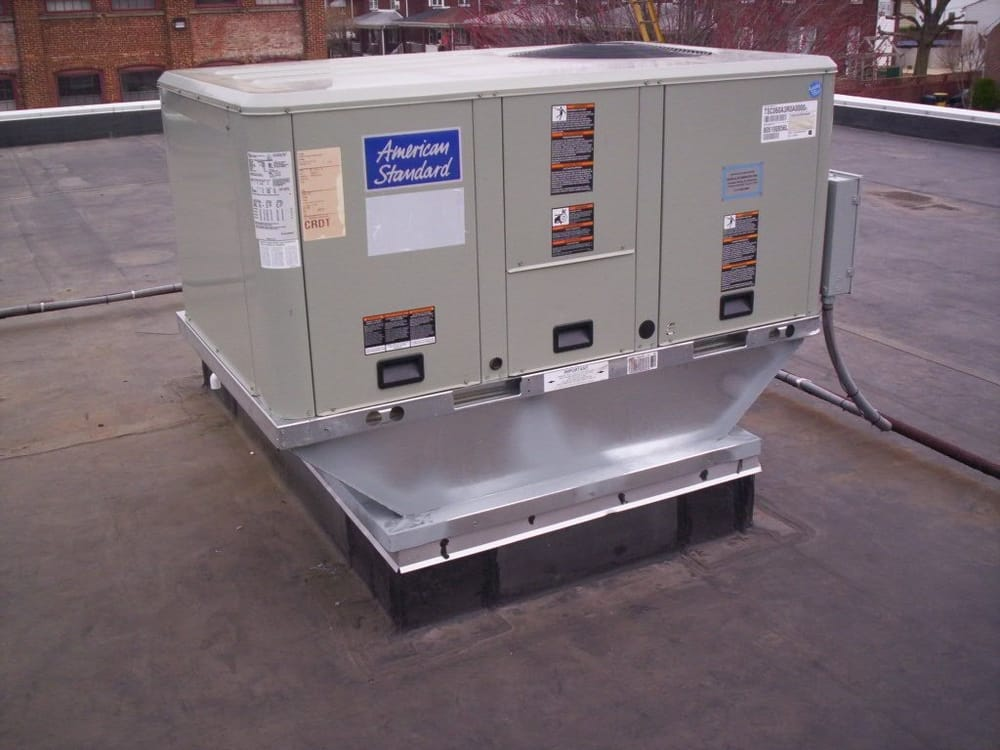 American Standard Packaged Commercial Unit W Roof Curb