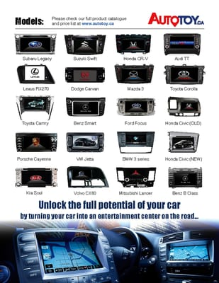 Autotoy Navigation And Entertainment Systems Car Stereo