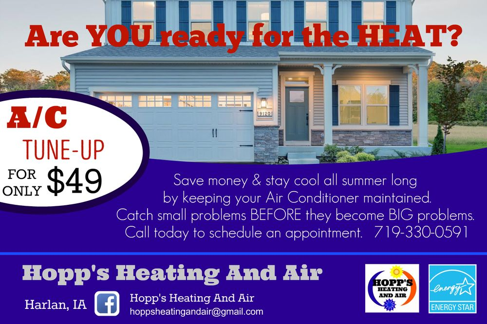 Hopp's Heating and Air: 414 Market St, Harlan, IA