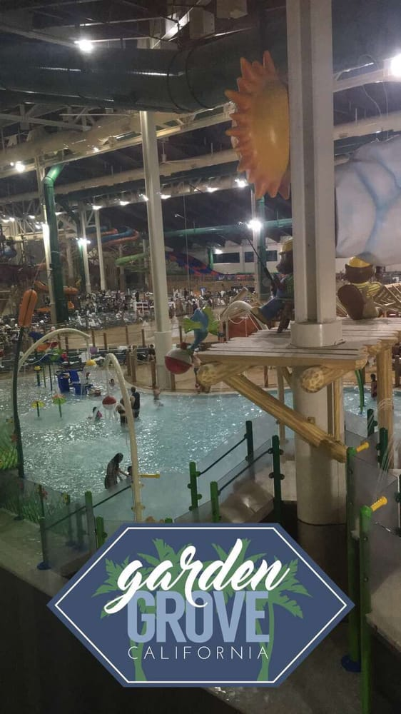 Picture from our room window yelp Great wolf lodge garden grove reviews