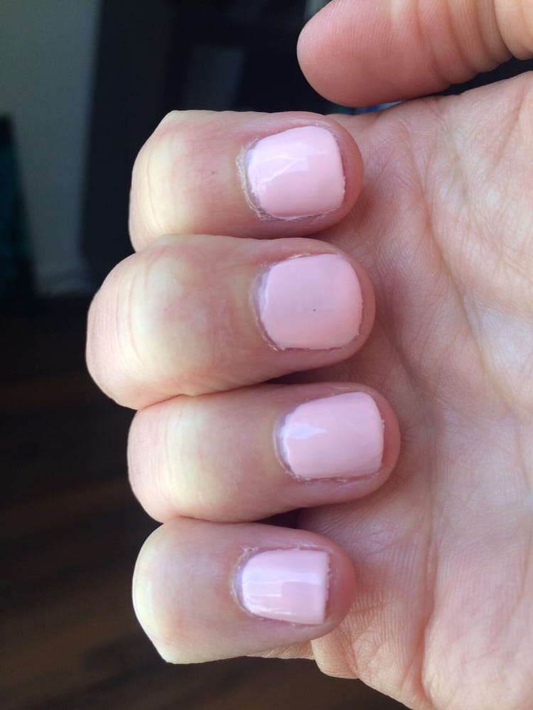 The manicure, cuticles look bad as well as the nails :( - Yelp