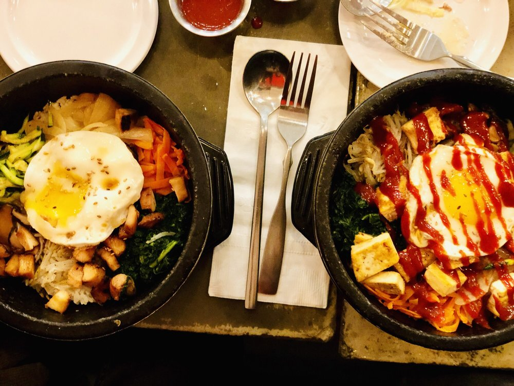 Food from DOMA Korean Kitchen