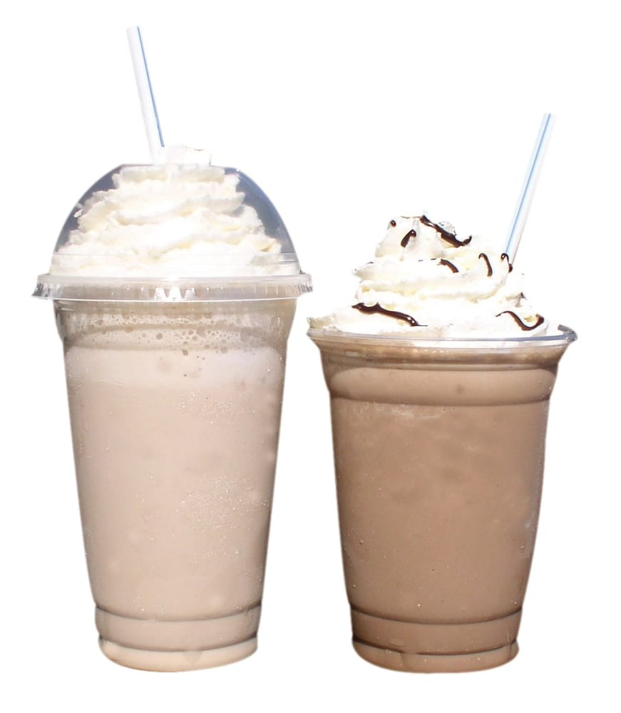 Freezers- Frozen Blended Coffee Drinks. Also Availabel
