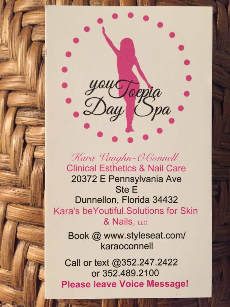 youToepia Day Spa: 20372 E Pennsylvania Ave, Dunnellon, FL