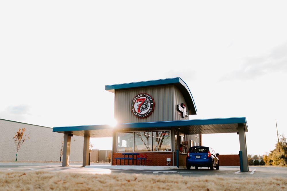 7 Brew Coffee: 500 S Bloomington St, Lowell, AR