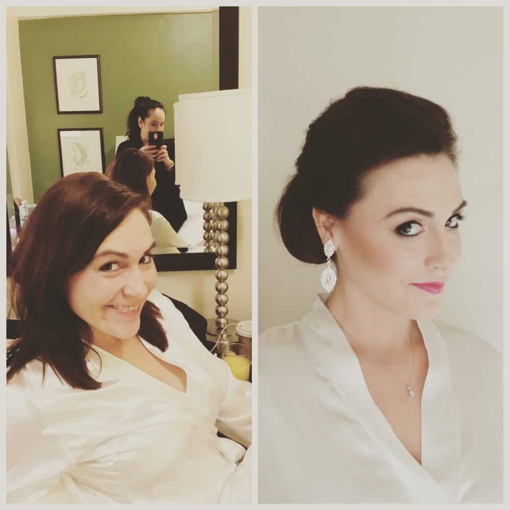 Wedding Day Makeup Before And After : Before and After on her SF City Hall Wedding Day. Hair and ...