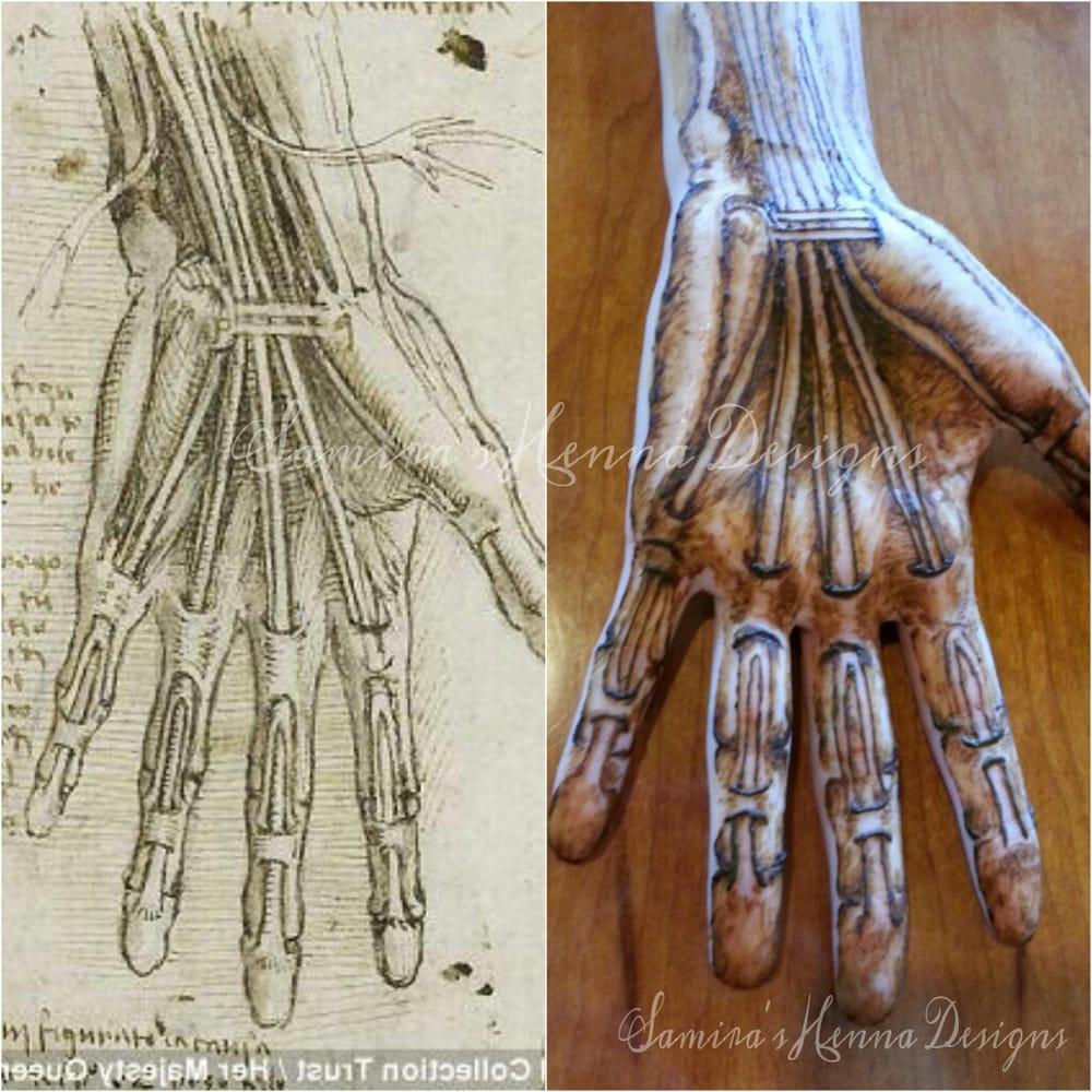 A recreation of Leonardo Da Vinci\'s work (anatomy of the hand) - Yelp
