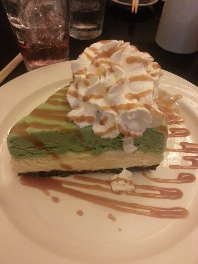 Green Tea Ice Cream Pie with caramel drizzle and whipped ...