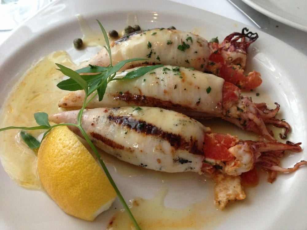 ... States. Stuffed Calamari grilled with feta, tomato, herbs and garlic