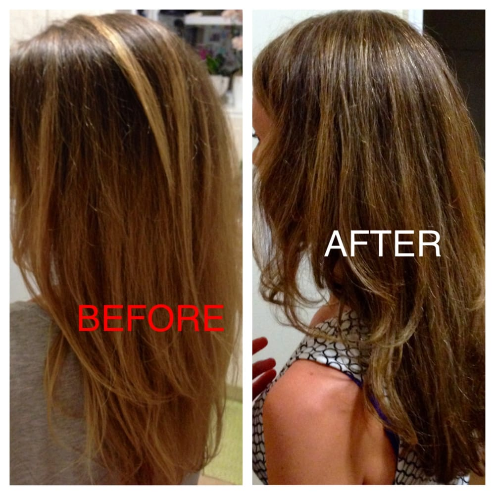 Before Split Ends And Quot Natural Quot Ombre After Amazing