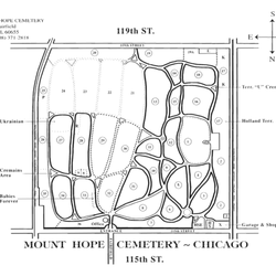 Photo Of Mount Hope Cemetery Chicago Il United States Our Cemetery Map