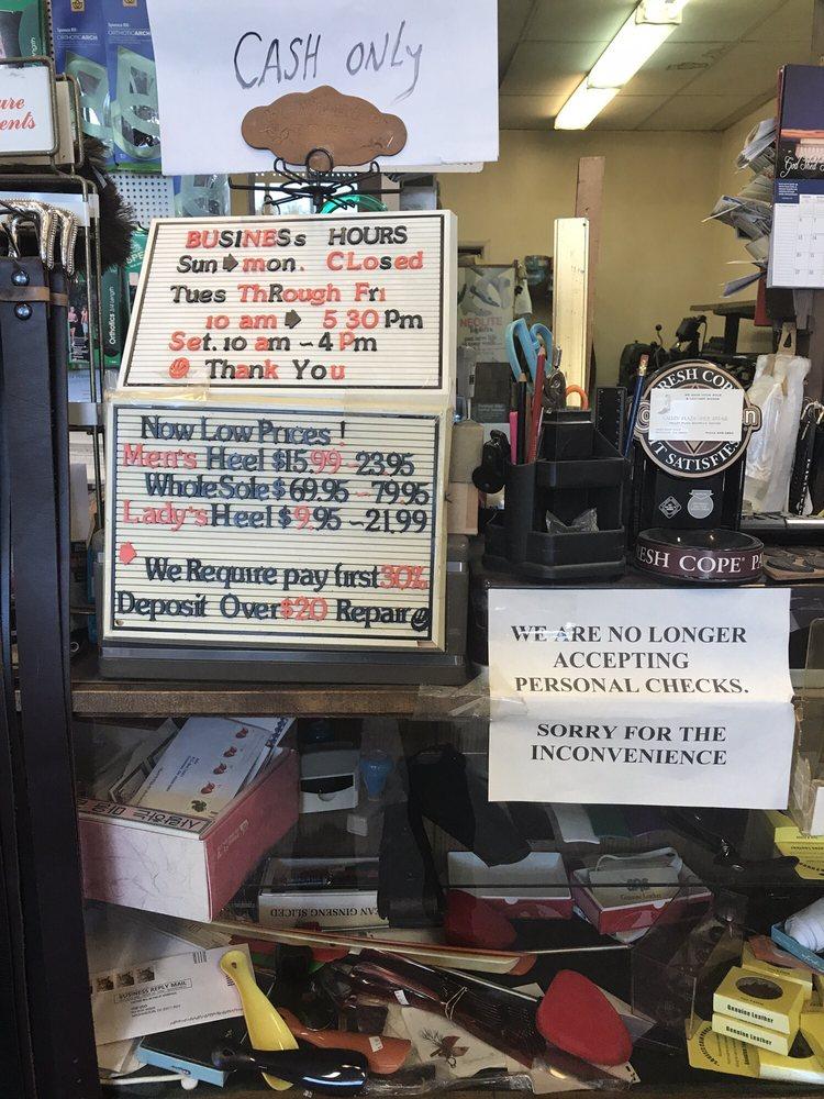 Valley Plaza Shoe Repair: 1421 E Main, Puyallup, WA