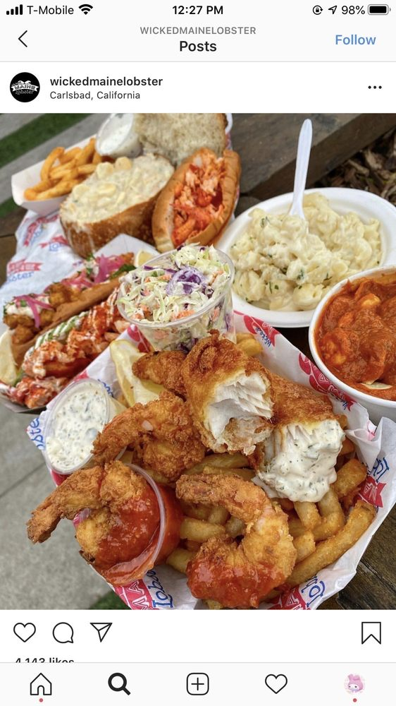 Wicked Main Lobster: 3040 Carlsbad Blvd, Carlsbad, CA